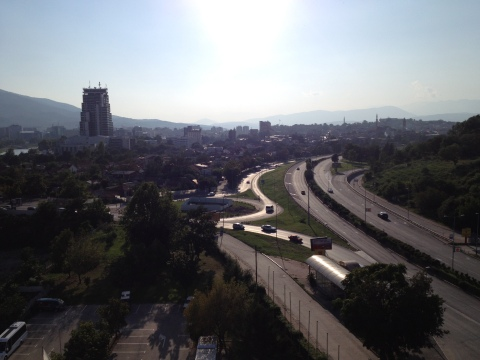 Skopje from the Hotel Continental